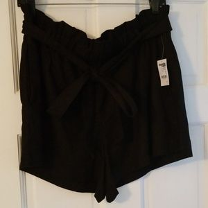 Nwt xl Charlotte russe cotton shorts tie bow nwt
